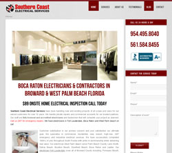 electrican web design boca raton florida