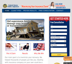 public adjusters web design NJ